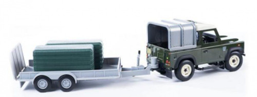 Britains Big Farm Green Landrover and Trailer with Bales (42836A2)