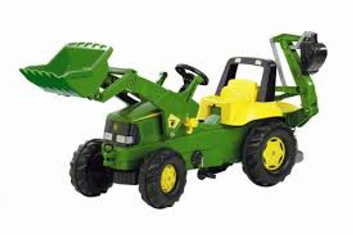 Rolly John Deere Tractor with Loader and Backhoe (81107)