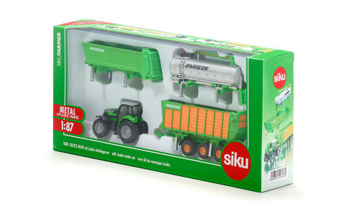 SIKU DEUTZ-FAHR with Joskin Trailer Set (1848)