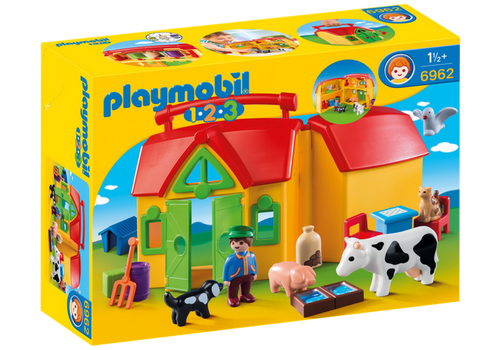 Playmobil 1.2.3 'My Take Along Farm' (6962)