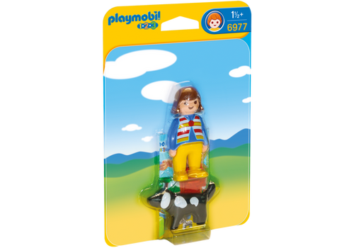 Playmobil 1-2-3 Woman with Dog (6977)