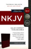 NKJV Value Compact Thinline, BURGUNDY Leathersoft, 6.5pt with Red Letter