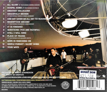 Glory Song - Matt Redman. CD