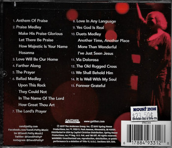Sandi Patty - Forever Grateful - CD of live Farewell Tour.