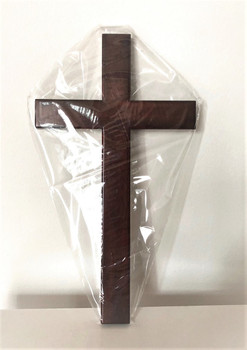 Wooden Cross C35 in Mahogany solid wood - 35 x 19.5 x 1.7(cm)