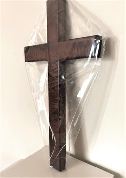 Wooden Cross C35 (solid mahogany wood) for wall hanging.