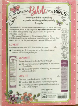 ESV My Creative Bible for Girls, Flexcover, Pink (Ages 8-12 )