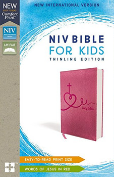 NIV  Bible for Kids(Ages 8-12)  in Comfort Print | Thinline Edition | Pink Leathersoft   by Zonderkidz
