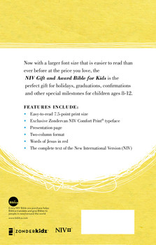 NIV Gift and Award Bible for Kids(Ages 8-12)  in Comfort Print | Blue Flexcover  by Zonderkidz