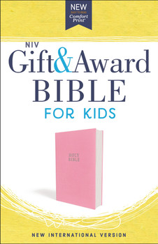 NIV Gift and Award Bible for Kids(Ages 8-12) in Comfort Print | Pink Flexcover  by Zonderkidz