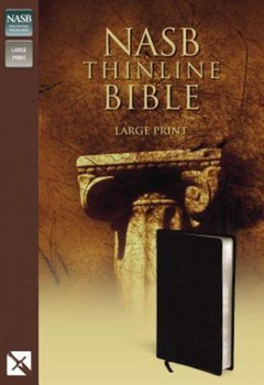 NASB Thinline Bible - Large Print in  Bonded Leather Black by Zondervan