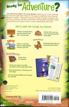 NirV Adventure Bible for Early Readers, Hardcover, Jacketed  by Zonderkidz