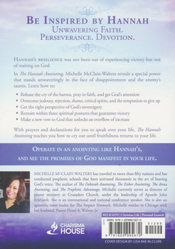 The Hannah Anointing:  Becoming a Woman of Resilience, Fulfillment, and Fruitfulness  by Michelle McClain-Walters