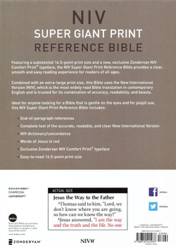 NIV Super Giant Print Reference Bible - CHARCOAL Leathersoft