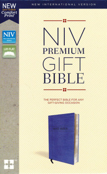 NIV Premium Gift Bible(Comfort Print) Navy Leathersoft with Indexed by Zondervan