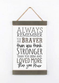 Banner Art - Always Remember You Are Braver Than You Think Stronger Than You Seem And Loved More Than You Know