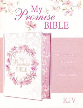 KJV My Promise Bible White Pink Floral Hardcover in Large Print