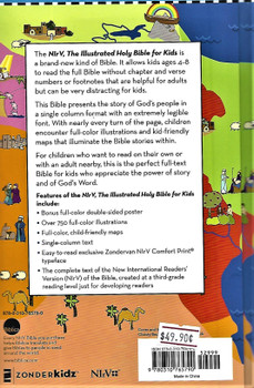 The Illustrated Holy Bible for Kids, NirV, with over 750 colour illustrations.