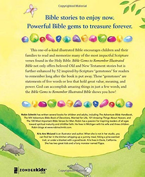 Bible Gems To Remember Illustrated Bible -   52 Stories With Easy Bible Memory In 5 Words Or Less  by Robin Schmitt