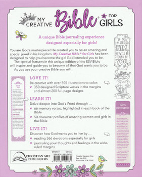 ESV My Creative Bible For Girls-Purple Glitter Cloth Hardcover