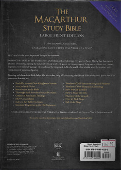 NKJV, The MacArthur Study Bible, Signature Series, Large Print, Bonded Leather, Black, Thumb Indexed