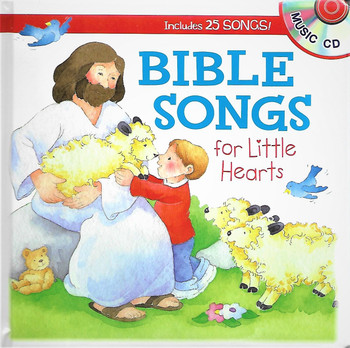 BIBLE SONGS for little hearts by Shiloh Kidz. with Music CD of 25 children's songs.