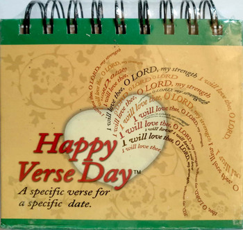 Happy Verse Day Calendar (Perpetual) - A specific verse for a specific day