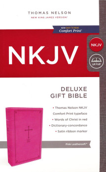 NKJV Deluxe Gift Bible(Comfort Print), PINK Leathersoft