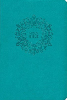 NKJV Value Thinline Bible Large Print (Comfort Print), Turquoise Leathersoft