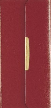 NKJV Classic Companion Check Book Bible -BURGUNDY Bonded Leather with Snap Flap
