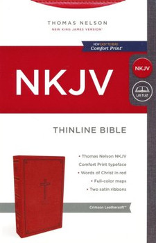 NKJV Thinline Bible(Comfort Print), CRIMSON Leathersoft