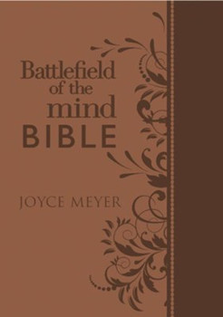 Amplified Battlefield Of The Mind Bible -  Featuring Notes & Commentary by Joyce Meyer(Fashion Edition),  Renew Your Mind Through The Power Of God'S Word, Brown Euroluxe