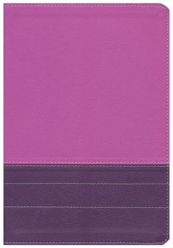NIV Life Application Study Bible, Large Print/Indexed - Dark Orchid/Plum Duo-Tone
