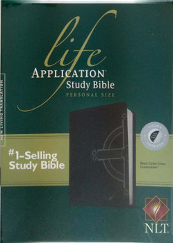 NLT Life Application Study Bible, Personal Size Indexed, TuTone Black Celtic Cross Leatherlike