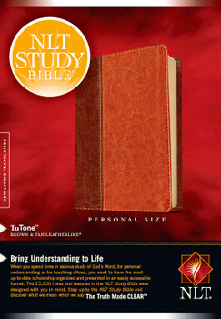 NLT Study Bible/Personal Size-Brown/Tan TuTone - Bring Understand to Life