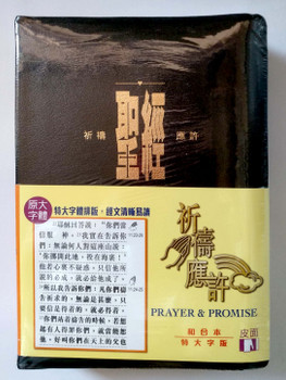 Prayer & Promises Bible in Chinese (Union Version) - Extra Large Print, Indexed - Black Bonded Leather  聖經 - 祈禱應許(和合本版)特大字版, 拇指版, 黑色皮面金邊