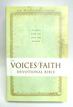 NIV VOICES OF FAITH Devotional Bible: Insights from the Past and Present(Hardcover)