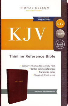 KJV Thinline Reference Bible(Comfort), BURGUNDY BONDED Leather