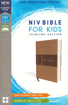 NIV  Bible for Kids(Ages 8-12) THINLINE Edition(Comfort Print), TAN Leathersoft