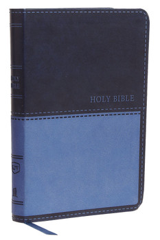KJV Value Compact Thinline Bible. NAVY Leathersoft