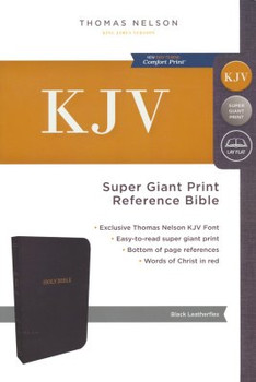 KJV Reference Bible Super Giant Print, BLACK Leatherflex