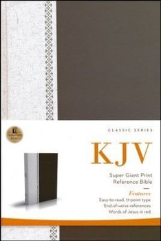 KJV Super Giant Print Reference Bible (Classic Series), Words of Christ in Red(Hardcover)