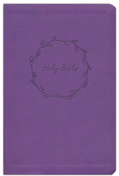 NKJV Value Large Print Thinline Bible(Comfort Print), PURPLE Leathersoft