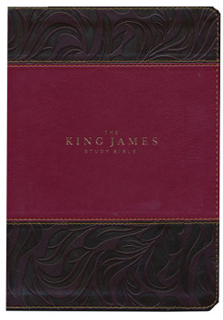 KJV Study Bible Full-Color Edition, Thumbed Indexed, BURGUNDY Leathersoft