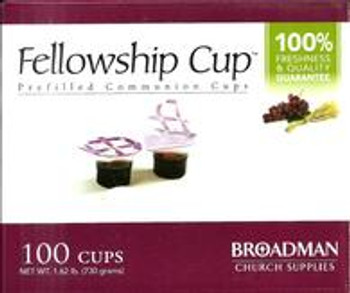 Fellowship Cup (Holy Communion) Prefilled with premium quality Real Grape Juice and Unleavened Bread Wafer (Box of 100 cups). Hygienically prepared, untouched by human hands. (expiry date: July 2021)