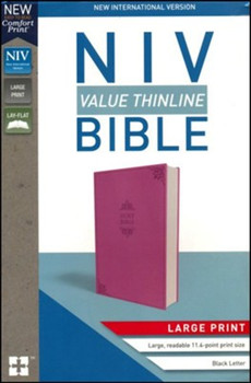 NIV Value Thinline Bible in Large Print ORCHID Leathersoft