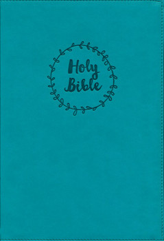 NIV Value Thinline Bible in Large Print TURQUOISE Leathersoft