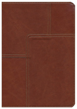NLT Life Application Study Bible, Thumb Index, MIDTOWN BROWN LeatherLike