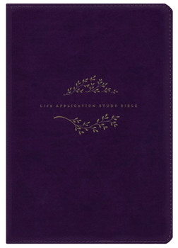 NLT Life Application Study Bible, Thumb Index, PURPLE LeatherLike