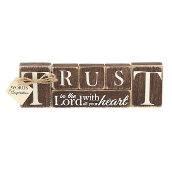 Tabletop Plaque - Trust in the Lord with all your heart